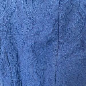 Elle Dresses - Elle Navy Blue Lace Pattern Dress